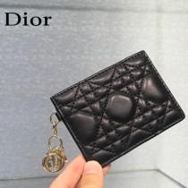 0126-06  Dior LADY DIOR 平蓋卡夾革藤格紋漆皮 原版皮