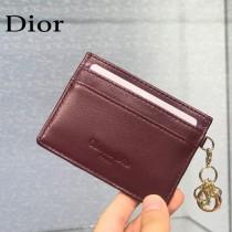 0126-08  Dior LADY DIOR 平蓋卡夾革藤格紋漆皮 原版皮