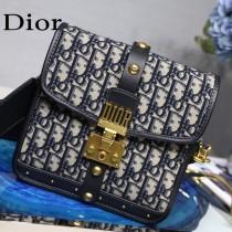 Dior迪奧原版皮老花布系列 經典郵差包
