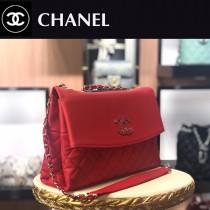 CHANEL-01  新款鹿紋牛皮購物袋肩背包
