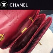 CHANEL-02 大棱格進口綿羊皮手提斜背包
