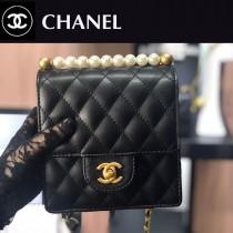 CHANEL-01  最新款珍珠鏈條包包