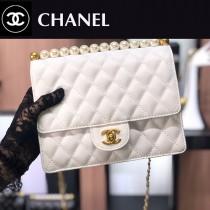 CHANEL-03 最新款珍珠鏈條包包