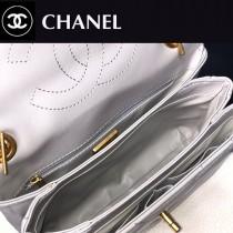 CHANEL-04  大V格進口綿羊皮手提斜背包