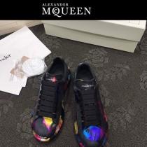 MQ麥昆-04  第三代原單正品ALEXANDER MQUEEN麥昆小白鞋情侶款塗鴉