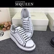MQ麥昆-014  第三代原單正品ALEXANDER MQUEEN麥昆小白鞋情侶款