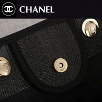 66942-05  Chanel 最新大號紋條藤沙編灘包