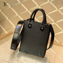 LV M69575-01 黑色水波紋原版皮 PETIT SAC PLAT 手袋