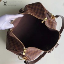 41416 咖啡棋盤格原版皮 KEEPALL 50 旅行袋