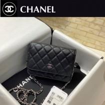 CHANEL AP1649 香奈兒原版皮新款mini woc經典款之Wallet on chain進口細球紋牛皮 多卡位斜跨包