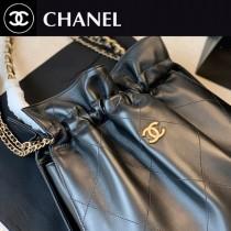 CHANEL   香奈兒原版皮最新走秀款抽繩手提肩背包