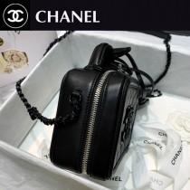 CHANEL AS93342 香奈兒原版皮小號槍色化妝包