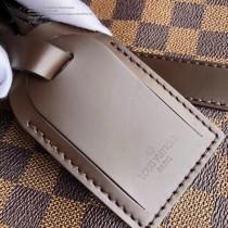 41428 咖啡棋盤格原版皮 KEEPALL 45 旅行袋於