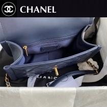 CHANEL   香奈兒原版皮新款大號爆款復古紐扣包