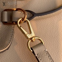 LV  原版皮 M41048-003 絲印中號 Montaigne 手袋蒙田包