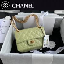 CHANEL 香奈兒原版皮最新 小號Chanel Reissue 秋冬季官方最新原廠進口胎牛方扣包