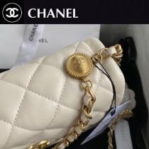 CHANEL   香奈兒原版皮新款小號爆款復古紐扣包