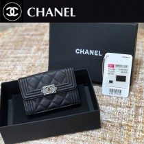 CHANEL 香奈兒原版皮最新新款式 經典短夾折疊短錢包