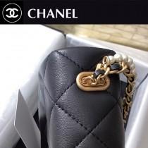 CHANEL AS2210 香奈兒原版皮秋冬秋冬系列珍珠鏈條包
