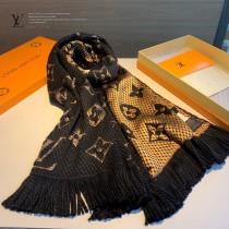 LV最新歐根紗提花毛線圍巾