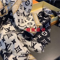 LV頂級羊絨暗紋鏈條圍巾同步官網專櫃