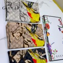 gucci法國專櫃同步花卉系列頂級純羊絨圍巾披肩