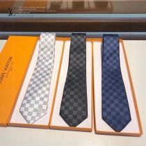 LV專櫃同步棋盤格提花領帶