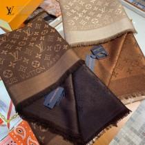 LV最新專櫃經典真絲羊毛大方巾
