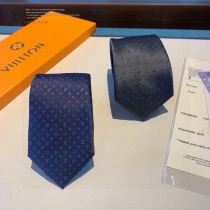 LV 小Logo提花原單真絲領帶