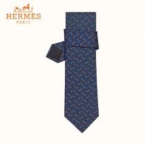HERMES手工縫制重磅真絲領帶 100%桑蠶絲  配包裝