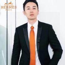 HERMES男士新款領帶系列原單真絲H提花領帶