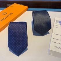 LV 小Logo提花專櫃同步男士領帶