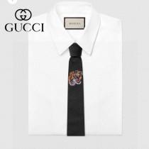 Gucci 原單真絲老虎圖案領帶