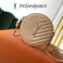 YSL  610436-04  原版皮聖羅蘭 新款可愛的圓形迷妳肩背斜挎包