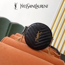 YSL  610436-01  原版皮聖羅蘭 新款可愛的圓形迷妳肩背斜挎包