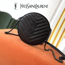 YSL  610436-02  原版皮聖羅蘭 新款可愛的圓形迷妳肩背斜挎包