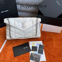 YSL 577476-001  原版皮聖羅蘭LOULOUPUFFER大號絎縫平面小羊皮包