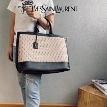 YSL 619757   原版皮聖羅蘭新款 ️SHOPPING TAG 黑色滿天星 SHOPPING Tote Bag購物袋