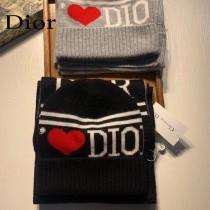 DIOR迪奧羊毛套裝帽子 經典套裝帽子圍巾