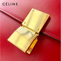 CELINE塞琳原單  CLASSIC 中號 細橫紋小牛皮小號豆腐包