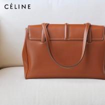 CELINE塞琳原單 soft 16 大號光滑牛皮革柔軟手袋購物袋