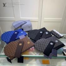 LV路易威登LouisVuitton官網新品羊毛羊絨套裝系列帽子 圍巾