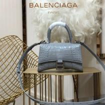 BALENCIAGA-05  巴黎世家原單爆款MINI號鱷魚紋HOURGLASS沙漏包