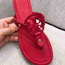 Tory Burch 托裏伯奇 漆皮系列 典時尚平底夾趾涼鞋人字拖