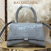 BALENCIAGA-06  巴黎世家原單爆款小號鱷魚紋HOURGLASS沙漏包