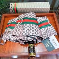 GUCCI 古馳專櫃夏季新款 經典GUCCI三色條紋圖案自動傘遮陽傘