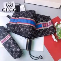 GUCCI 古馳專櫃夏季新款 經典GUCCI字母圖案 自動雨傘遮陽傘