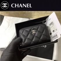 CHANEL 84511-03  原版皮新品 小羊皮卡包 錢包