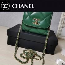 CHANEL 633-04 原版皮 新款 大方格新款零錢包