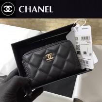 CHANEL 84511-04  原版皮新品 小羊皮卡包 錢包